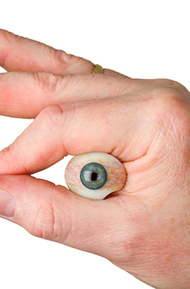 Mettre et enlever une prothèse oculaire laboratoire Dencott