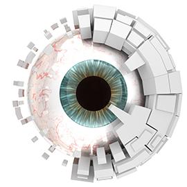 prise de mesure d'une prothese oculaire
