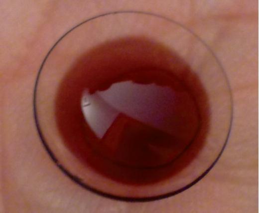 lentille souple hydrophile colorée marron moyen